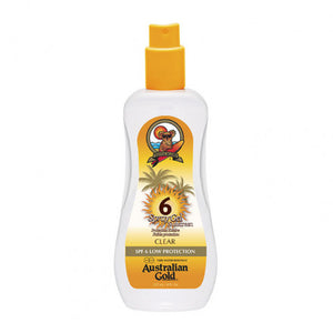 Australian Gold SPF6 Spray Gel Sunscreen CLEAR 237 ml