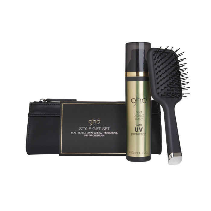 GHD MINI PADDLE BRUSH & HEAT PROTECT KIT