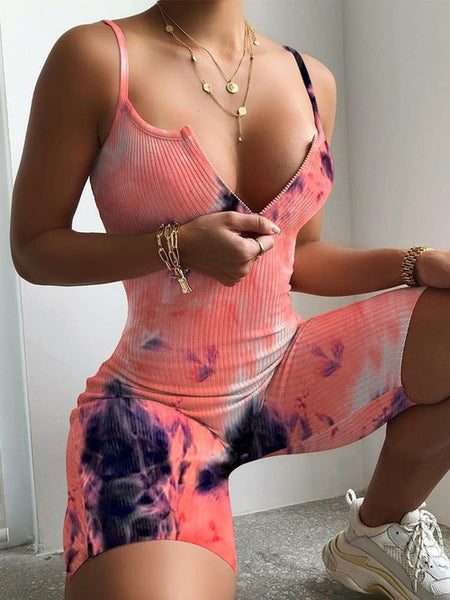 Tie-dye Yoga Sports Romper