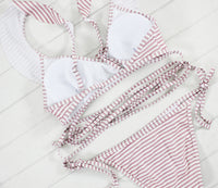 Striped Print Brazilian Bathing Suit