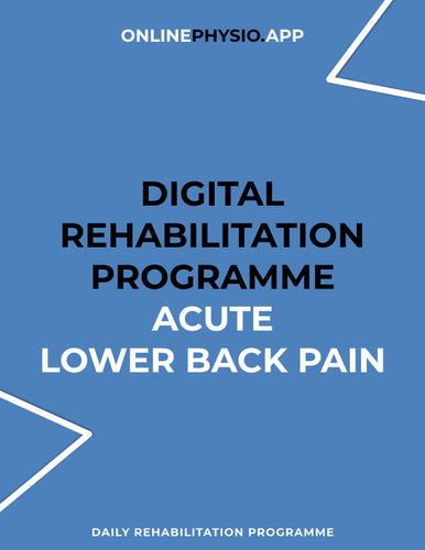 Acute Lower Back Pain Rehabilitation Programme-OnlinePhysio.app