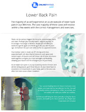 Load image into Gallery viewer, Chronic Lower Back Pain Rehabilitation Programme-OnlinePhysio.app