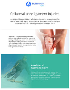 Collateral Knee Ligament Injury Rehabilitation Programme-OnlinePhysio.app
