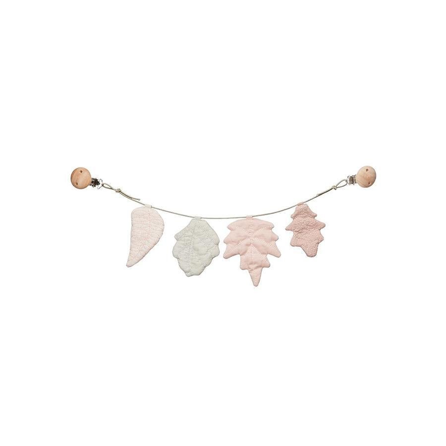 "Kinderwagenkette ""Leaves Mix Rose"""
