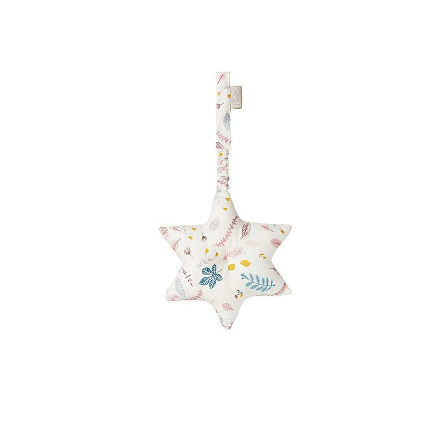 "Cam Cam Spielbogen-Mobile  ""Star Pressed Leaves Rose"" mit Raschelpapier - kyddo"