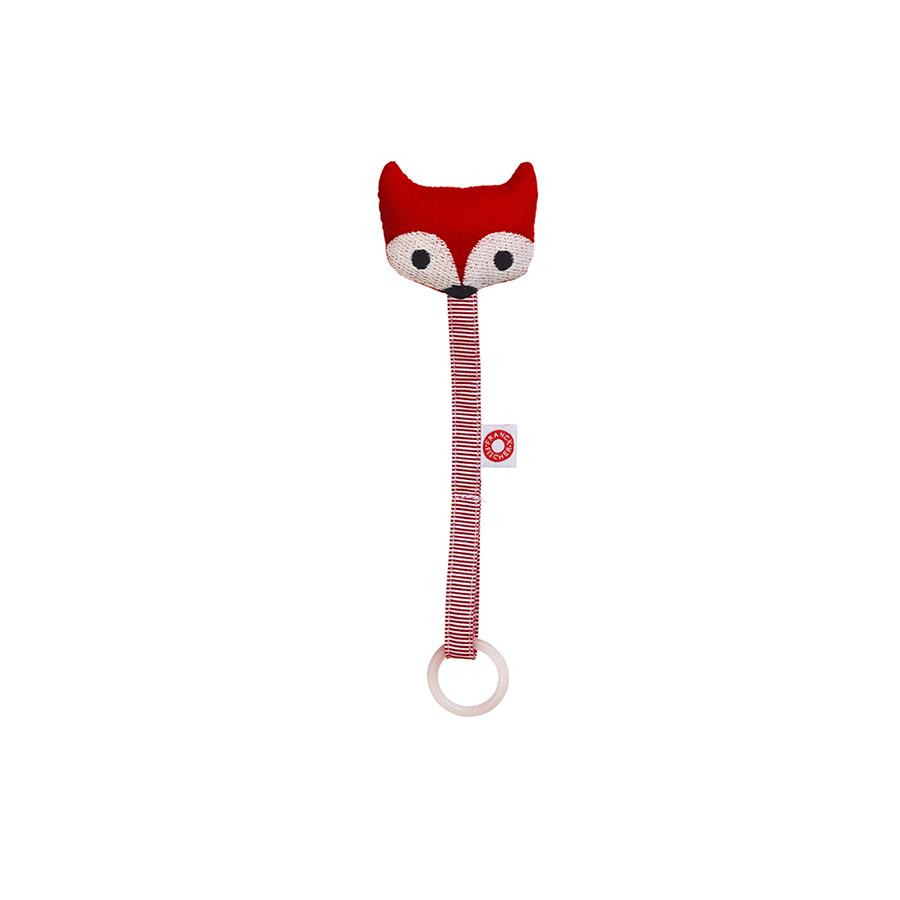 "Schnullerkette ""Ring Fox Red"""