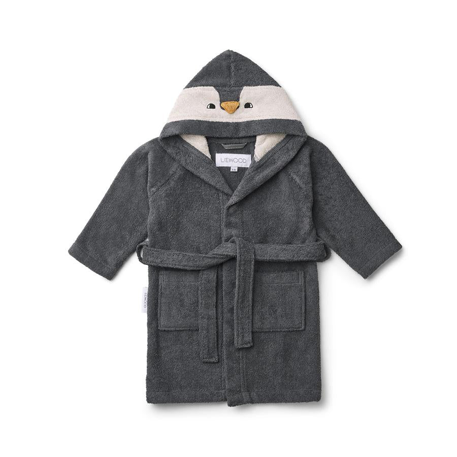 "Bademantel ""Lily Penguin Stone Grey"""