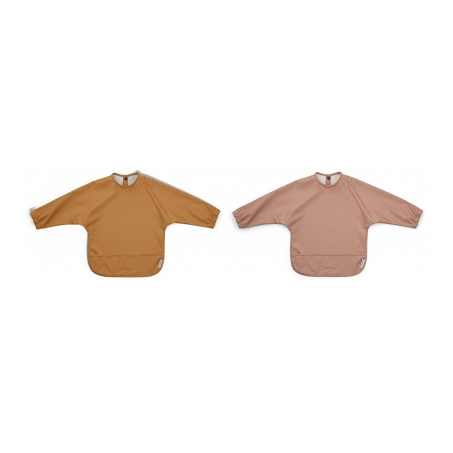 "Lätzchen ""Merle Cape Dark Rose / Mustard"" 2er Pack"