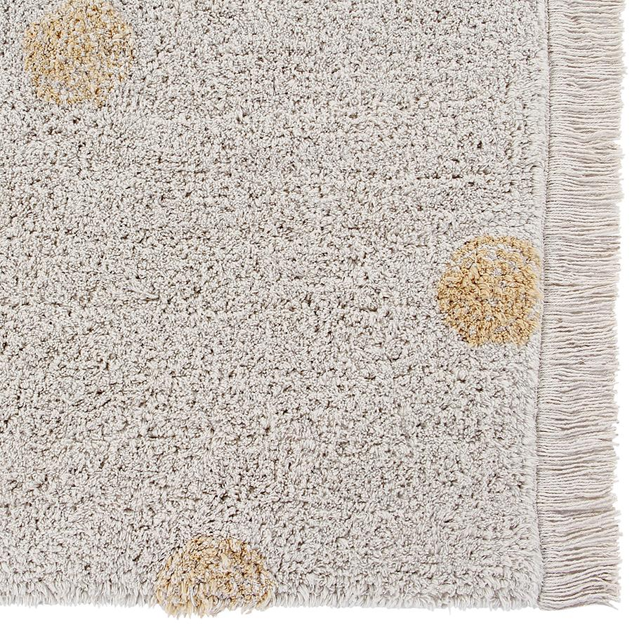 "Waschbarer Teppich ""Hippy Dots Natural / Honey"""