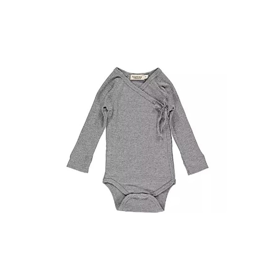 "Langarm-Body ""Mini Grey Melange"""