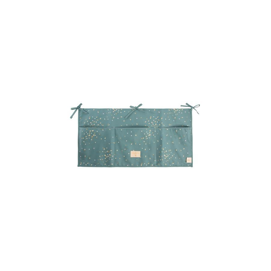 "Betttasche ""Merlin Gold Confetti / Magic Green"""