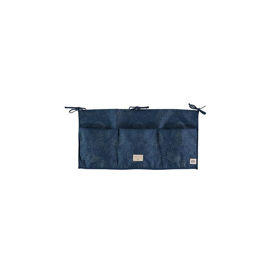 "Nobodinoz Betttasche ""Merlin Gold Bubble / Night Blue"" - kyddo"