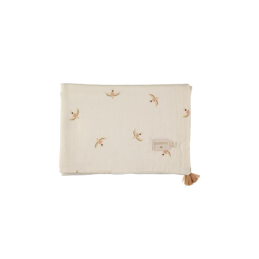"Babydecke ""Treasure Haiku Birds / Natural"""
