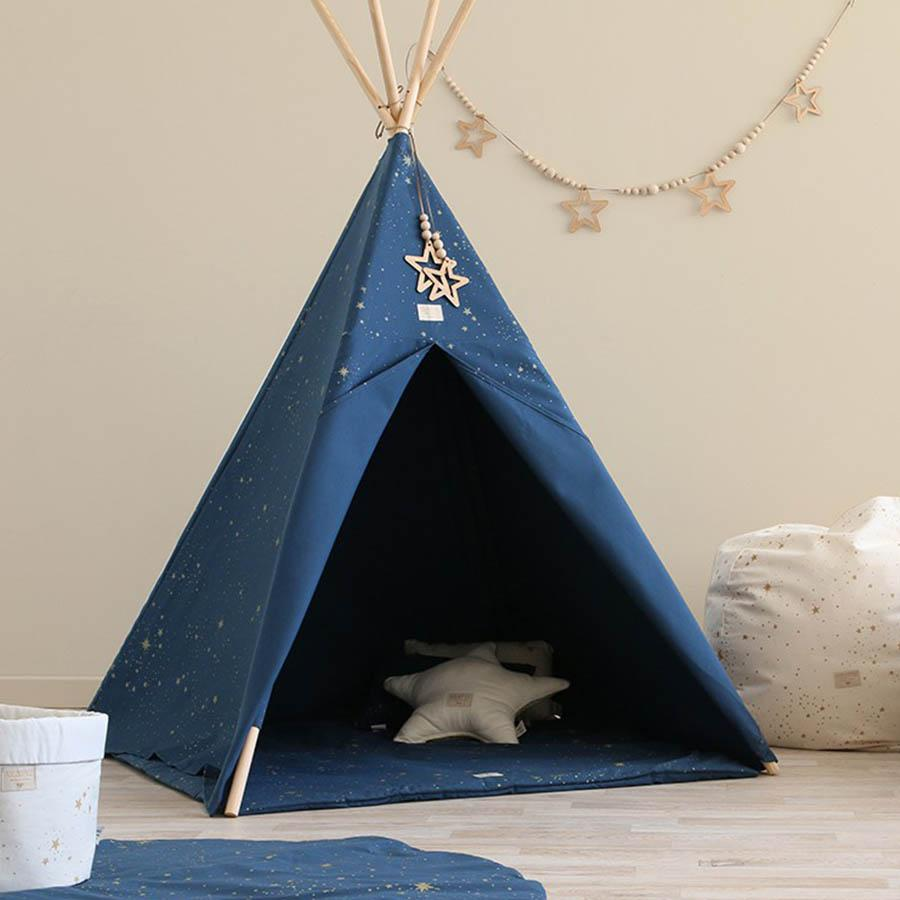 "Nobodinoz Tipi ""Phoenix Gold Stella Night Blue"" - kyddo"