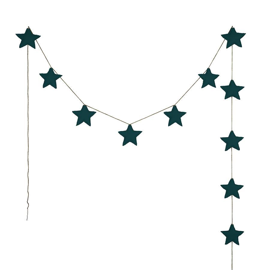"Girlande ""Mini Star Teal Blue"""
