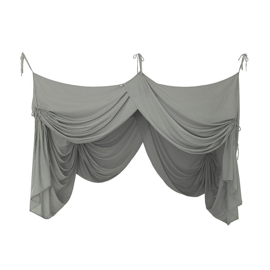 "Betthimmel ""Bed Drape Single Silver Grey"""