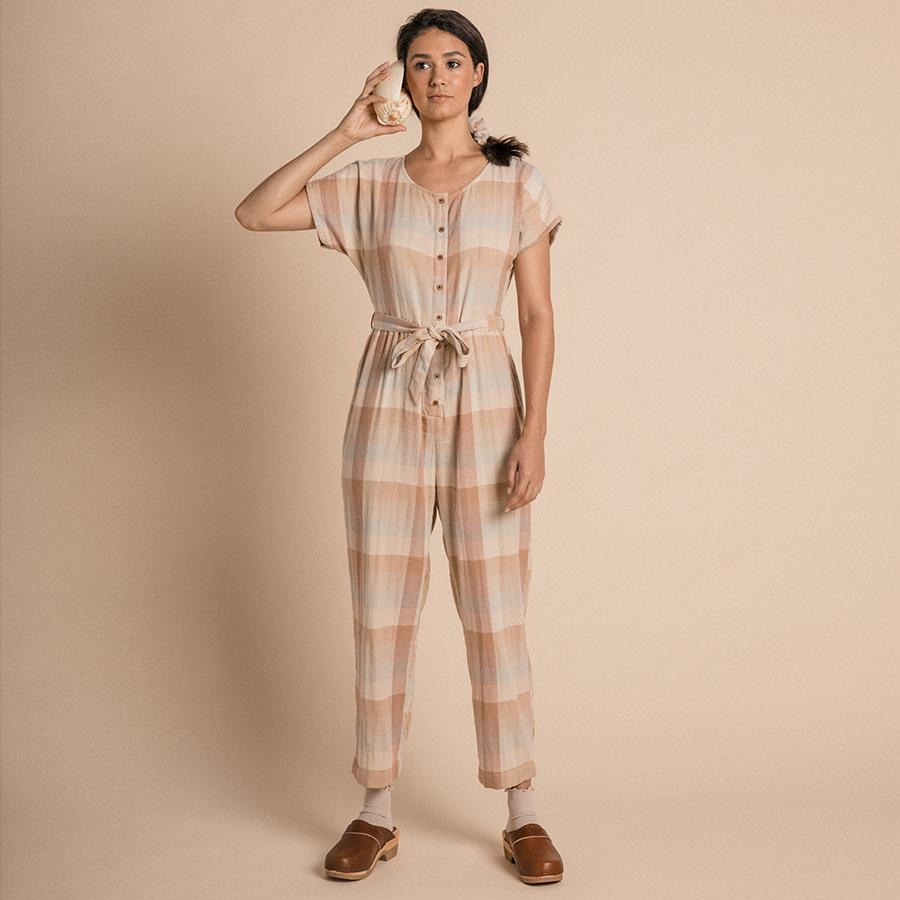 "Jumpsuit ""Joya Adobe Check"""