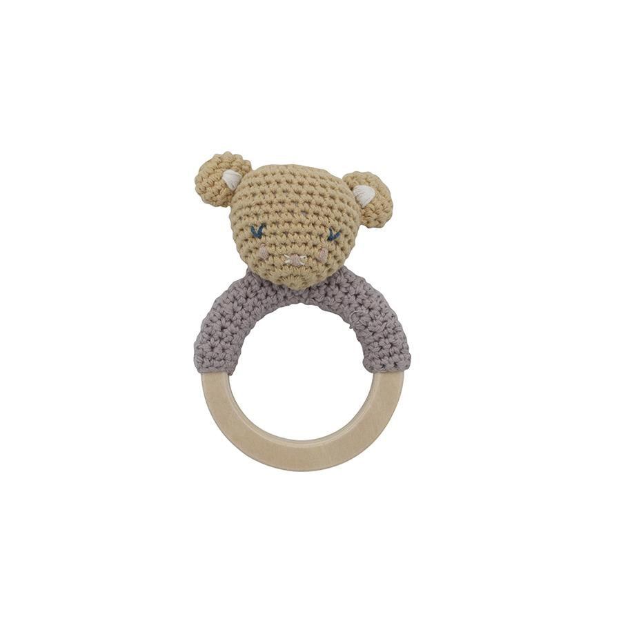 "Babyrassel ""Crochet Buttercup the Mouse on Ring"""