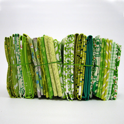 Little Stacks of Fun Green - Fabric HQ