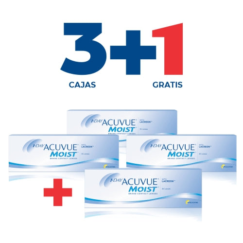 Acuvue ONE DAY MOIST + PROMO 3+1