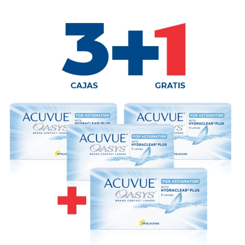 Acuvue Oasys Toric - PROMO 3+1