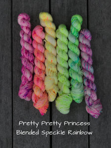 Pretty Pretty Princess Blended Speckled Rainbow Mini Skein Kit