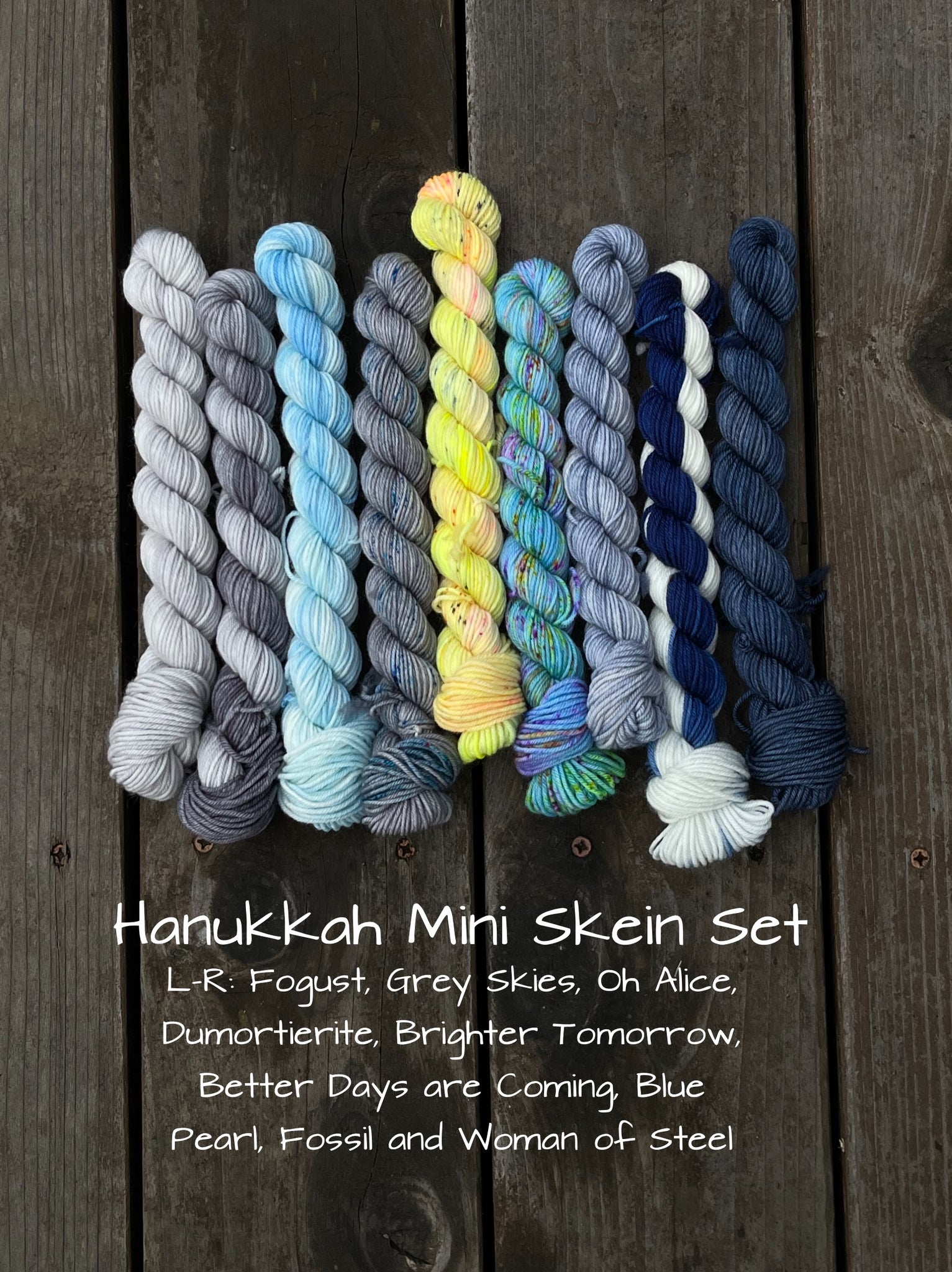 Hanukkah Mini Skein Set