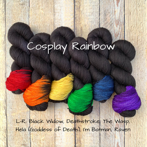 Cosplay Rainbow Mini Skein Kit