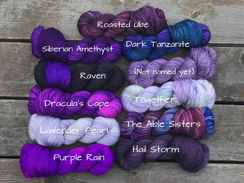 The Original Purple Sampler Mini Skein Kit