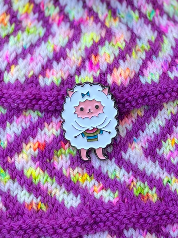 Enamel Pin - Knitting Sheep