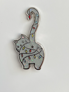 Enamel Pin - Holiday Cat Butt