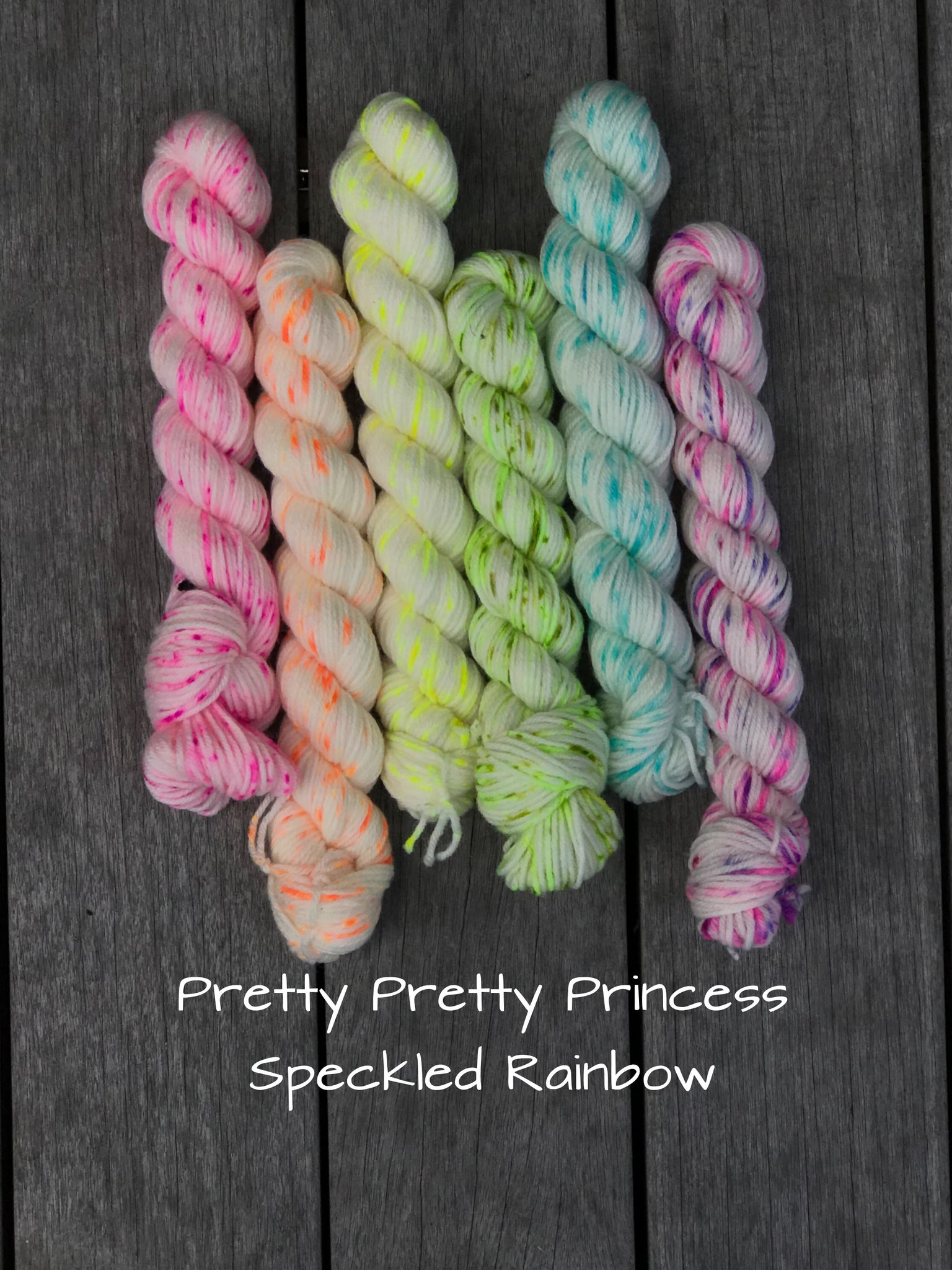 Pretty Pretty Princess Speckled Rainbow Mini Skein Kit