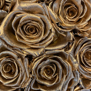 Glamorous Gold infinity rose colour | Bling Blooms