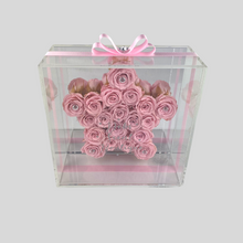 Load image into Gallery viewer, Infinity Rose Hollywood | Ballerina Pink Rose Star in Acrylic frame front | Bling Blooms | One Year Roses