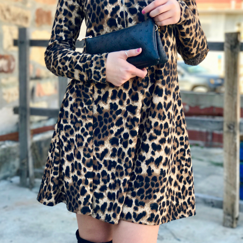 Wild For Leopard Dresses and Knee High Boots