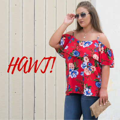 Red Hot Florals & Curves | Plus Size Lovin'