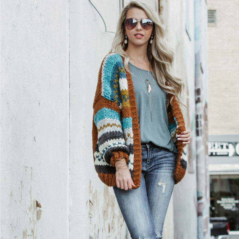 How to Style an Autumn Knit Loose Cardigan