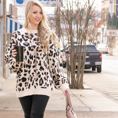 Snuggly Leopard Tops For Winter