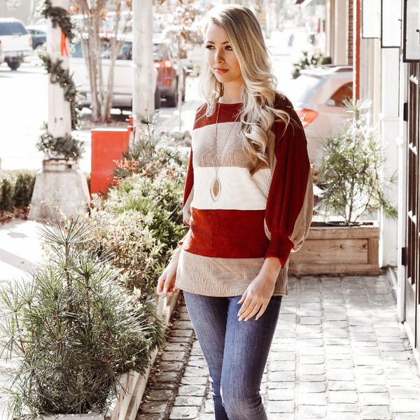 Burnt Orange Top For Winter