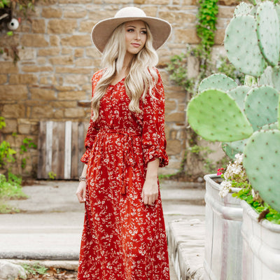 Bohemian Maxi Dress For Fall