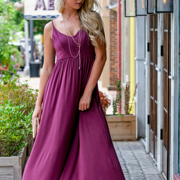 How To Dress Up a Simple Maxi Dress