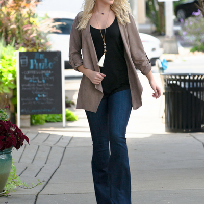 A Classic Fall Outfit | Chic Suede Blazer