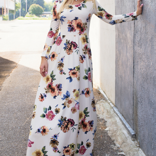 How to wear a floral maxi dress blog