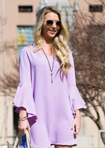 lilac purple easter dress for spring outfit