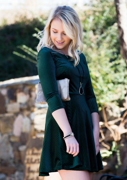 How to style a green velvet dress blog