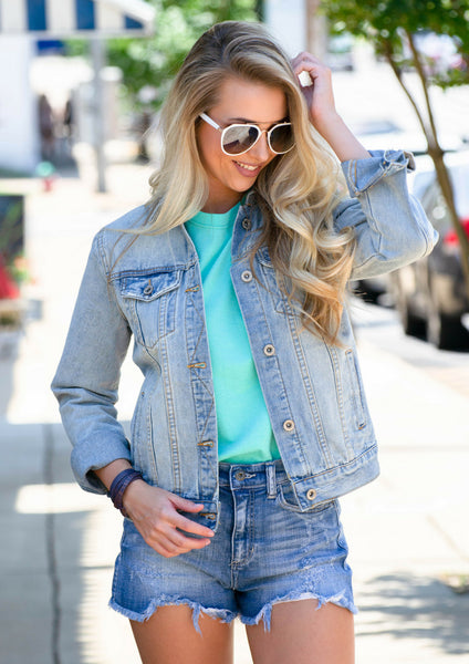 how to style denim-on-denim with simply southern tees