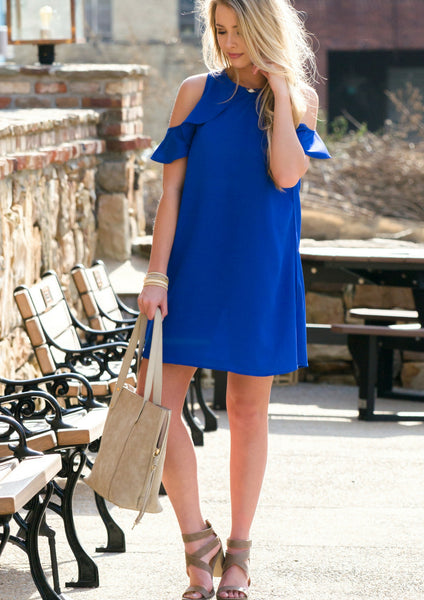 blue spring dress for easter outfit