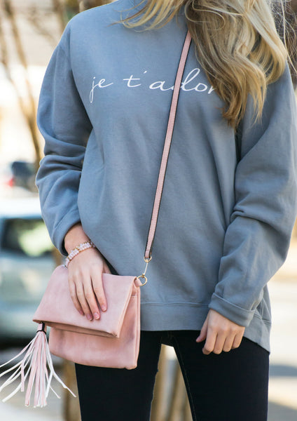 Ja T'adore Valentine's Day pullover outfit