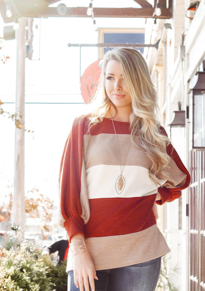 how to style an autumn tone block top