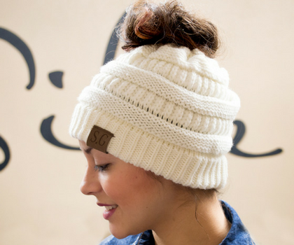 Messy Bun Beanie CC inspired Retail wholesale